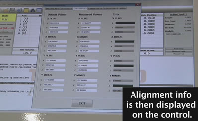 Thermwood Five Axis Alignment Verification Routine