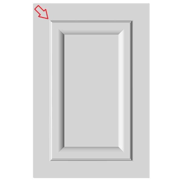Easily create mdf door with inside mitered corner on the Cut Center