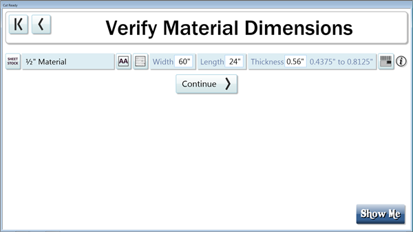You may now speicfy whether your material is sheet stock or board stock.