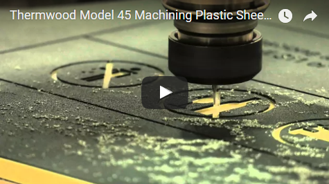 Thermwood Model 45 Machining Plastic Sheet (HDPE)