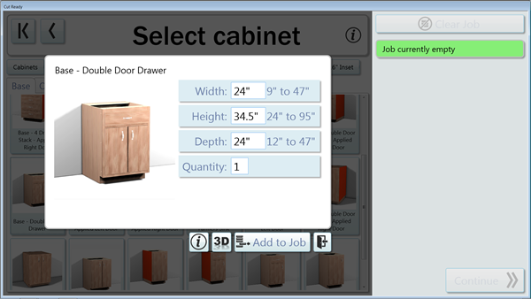 You can now change the height of farce frame base cabinets while maintaining proper drawer front heights.