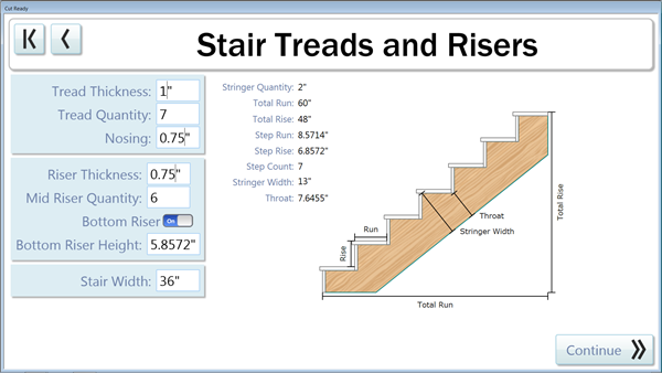 Stair Stringers are now available in the Thermwood Cut Center