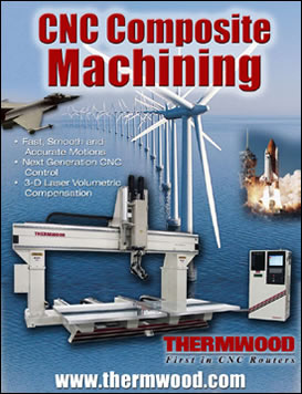 CNC Composite Machining featuring the Model 90