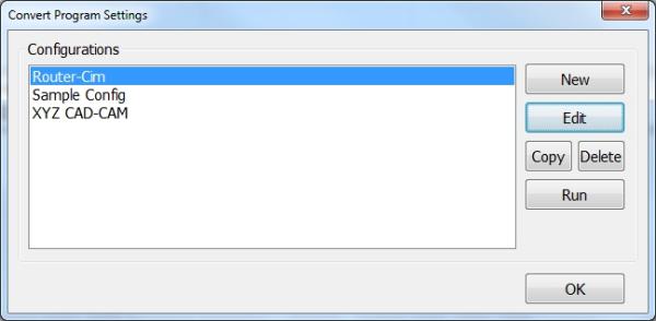 Router-CIM Convert Dialog