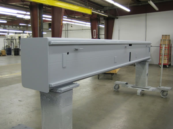 Gantry primered for paint