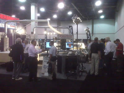 Demonstrating our CNC Routers, I-Cut, Links from eCabinets to ShopBot & from 20-20 to a Thermwood