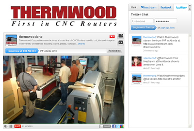 Thermwood Streaming Live from IWF 2010
