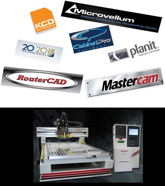 Thermwood CNC Routers are compatible with most major CAD software programs.