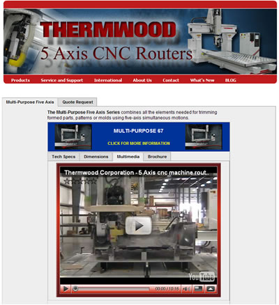 Thermwood's New CNC Router Interface on www.thermwood.com