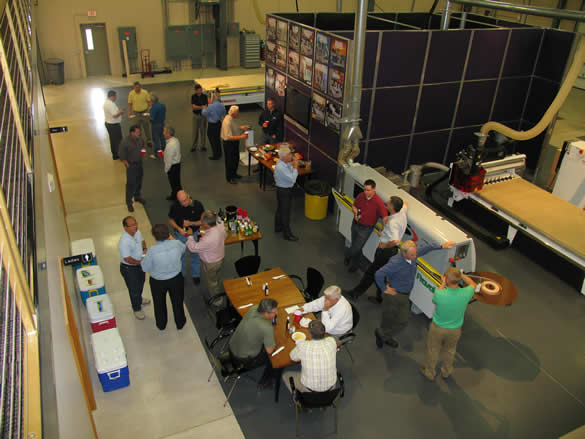 Socializing at the 2012 Thermwood Dealer Conference
