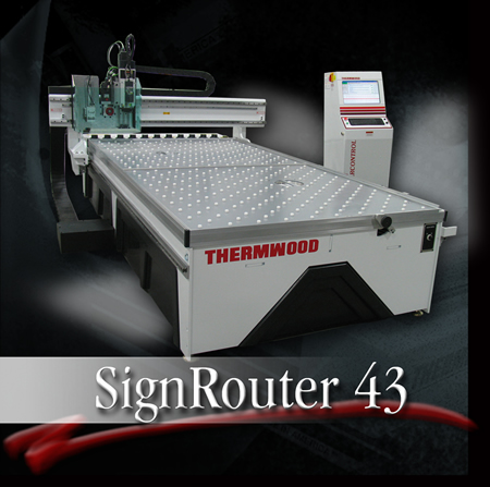Thermwood SignRouter 43 at the International Sign Expo 2010