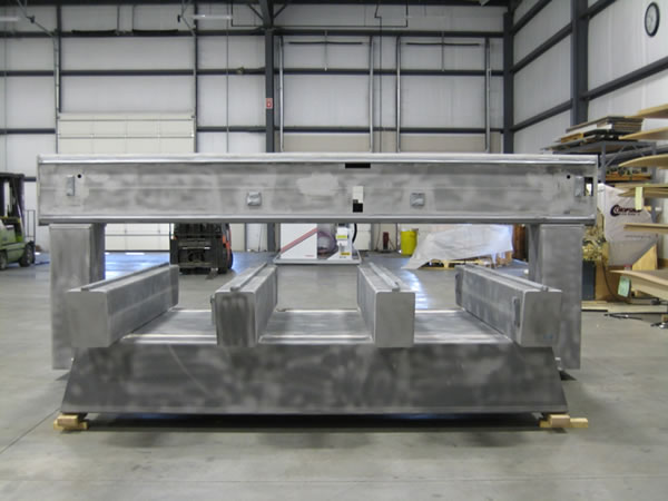 Stripped down CNC Router before Thermwood Refurbishment