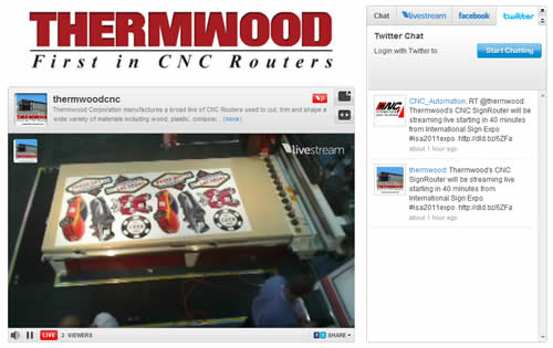 Thermwood Streaming Live from the International Sign Expo in Las Vegas