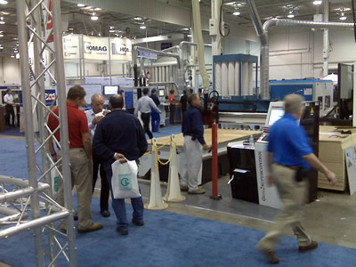 Thermwood Booth at the strart of the WMS Expo in Toronto, Canada