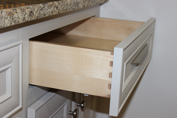 Dovetail drawers made on a Thermwood Cut Center