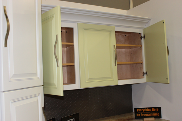 Tall corner pantry and cabinets made on a Thermwood Cut Center