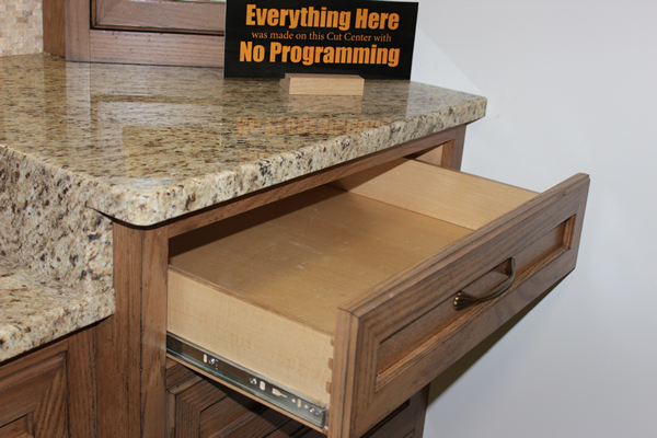 Bath cabinets made on the Thermwood Cut Center