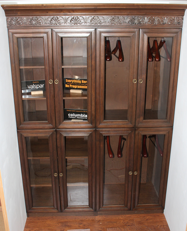 Walnut Closet machined on the Thermwood Cut Center