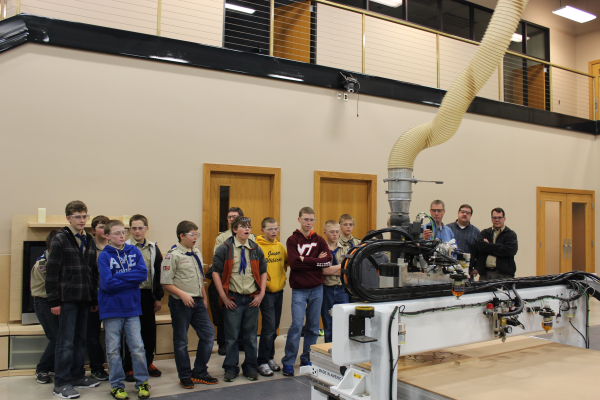 Boy Scouts watch a Thermwood Model 43 in action!