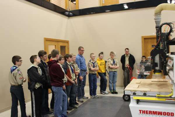 Boy Scouts watch a Thermwood Model 45 in action!