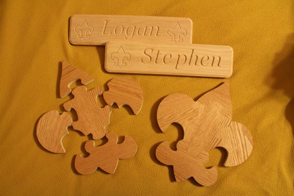 Boy Scout Emblem Puzzles and Name Plaques