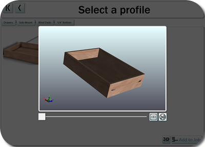 You can also make drawers and drawer fronts in the Cut Center