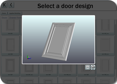 A variety of door options are available in the Cut Center
