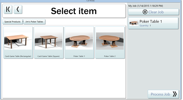 The Special Products Section allows you to make you own custom products easily with the Thermwood Cut Center