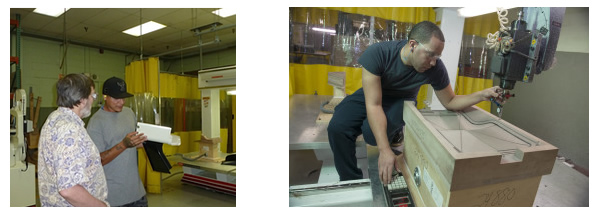 Universal Plastics with one of their Thermwood CNC Routers
