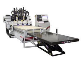 Thermwood FrameBuilder 53 5'x10' CNC Router with optional dual spindles and 6,000 lb load table