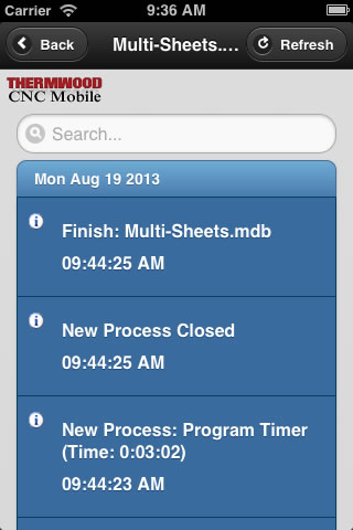 Thermwood CNC Mobile App - Program View