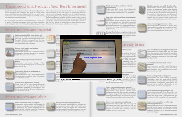Thermwood smart-router electronic brochure screenshot