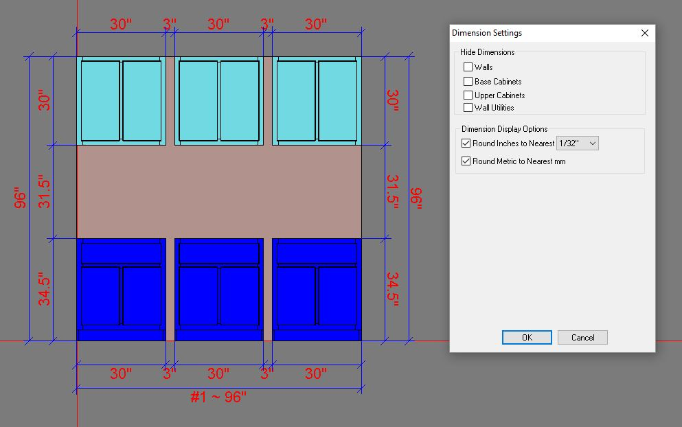Auto Dimension in Wall Elevation View
