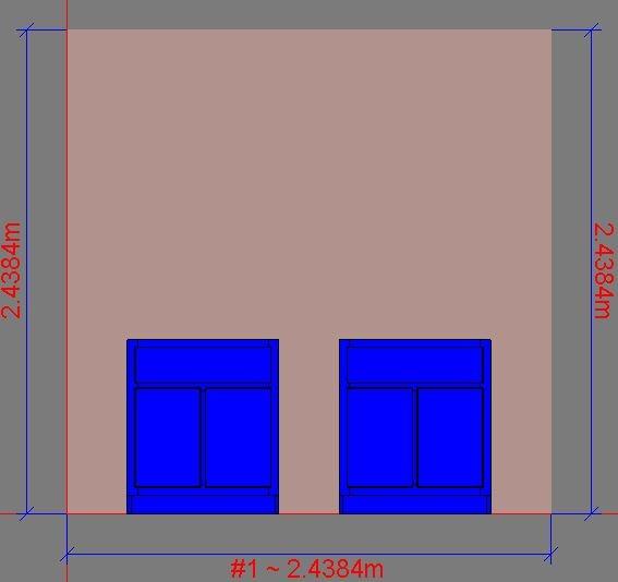 Dimensions displayed as Meters