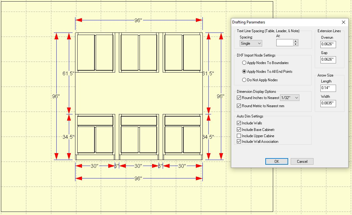 Auto Dimensions for Vertical Walls and Rooms