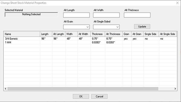 Ability to change Edge Banding Thickness