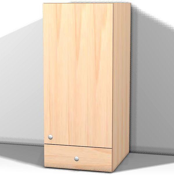 Right hinge door - 1 drawer, 1 shelf