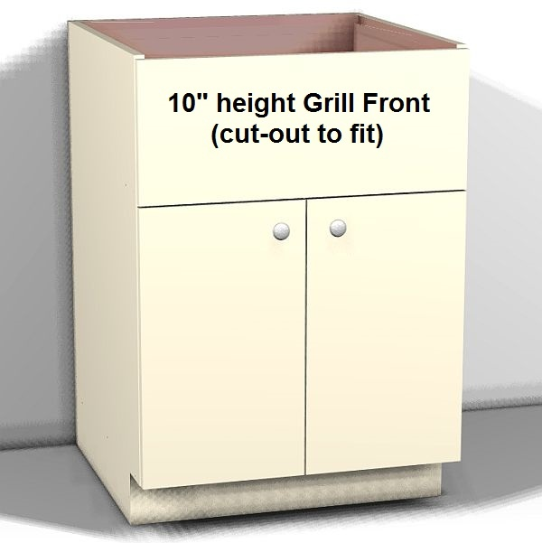 Outdoor Grill Base (double door) with false drawer