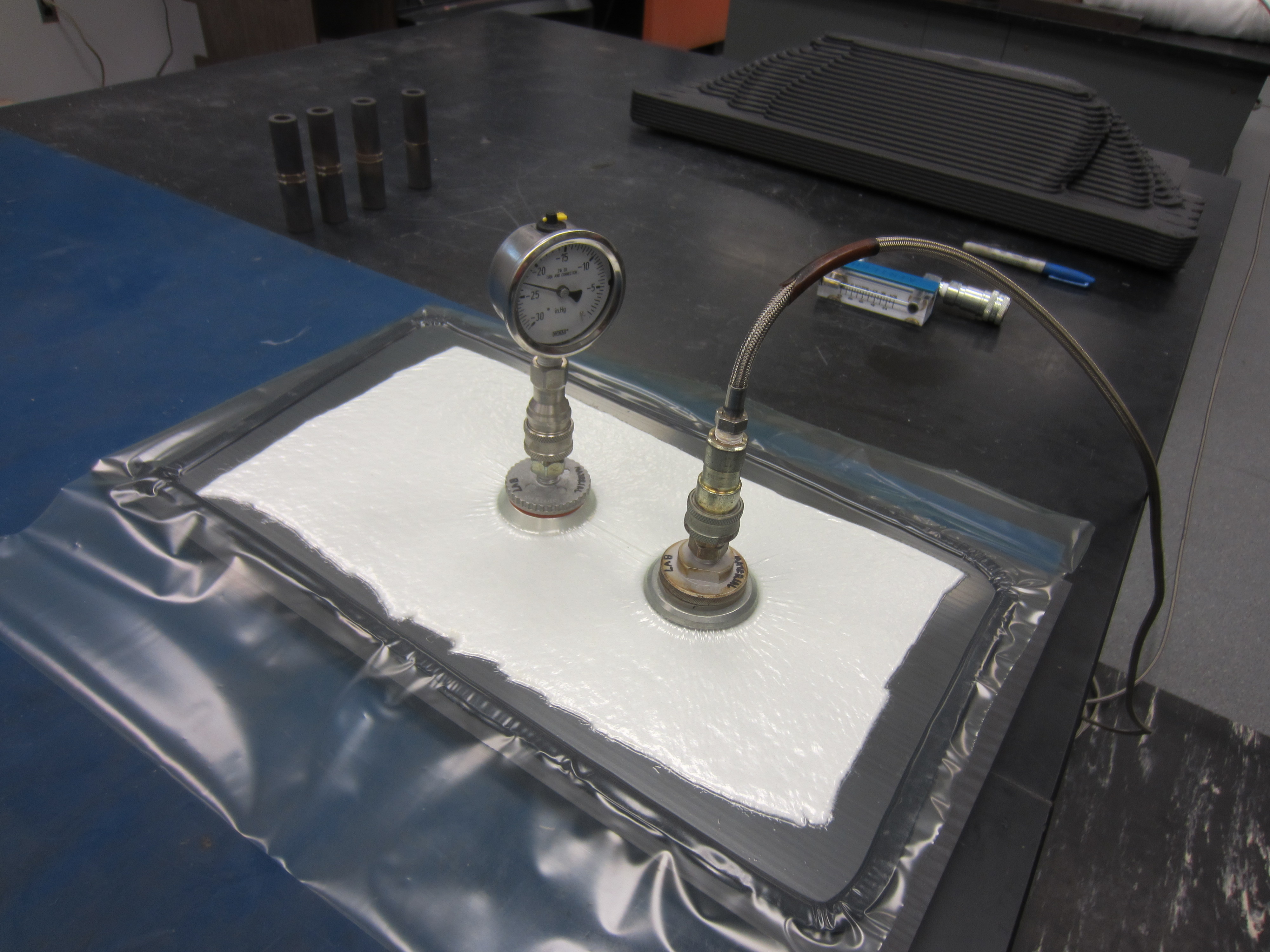 View of LSAM PPS Sample with Vacuum Bag