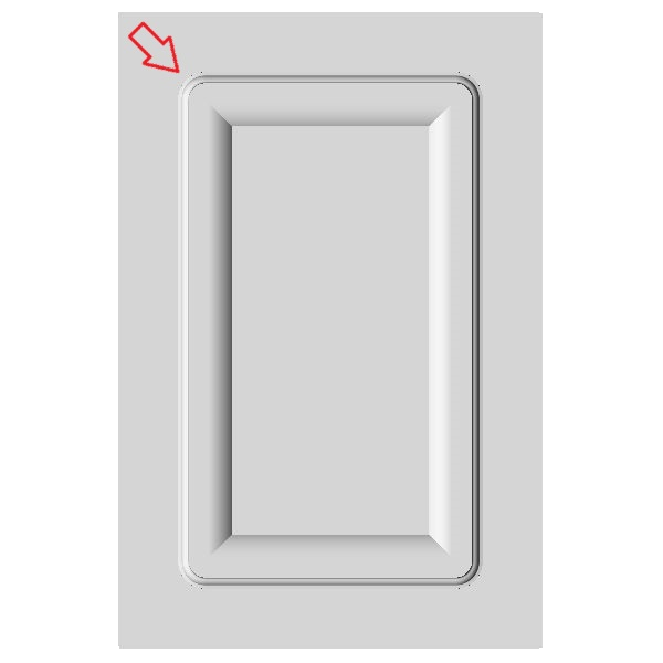 Easily create mdf door with inside radius on the Cut Center