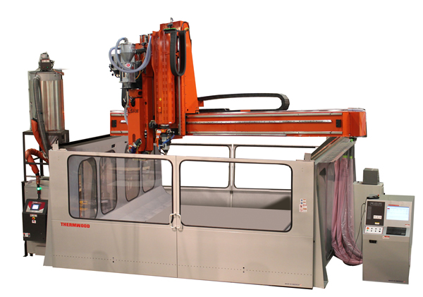 The new LSAM 1010 has both the print and trim heads on same the gantry just like the LSAM MT.