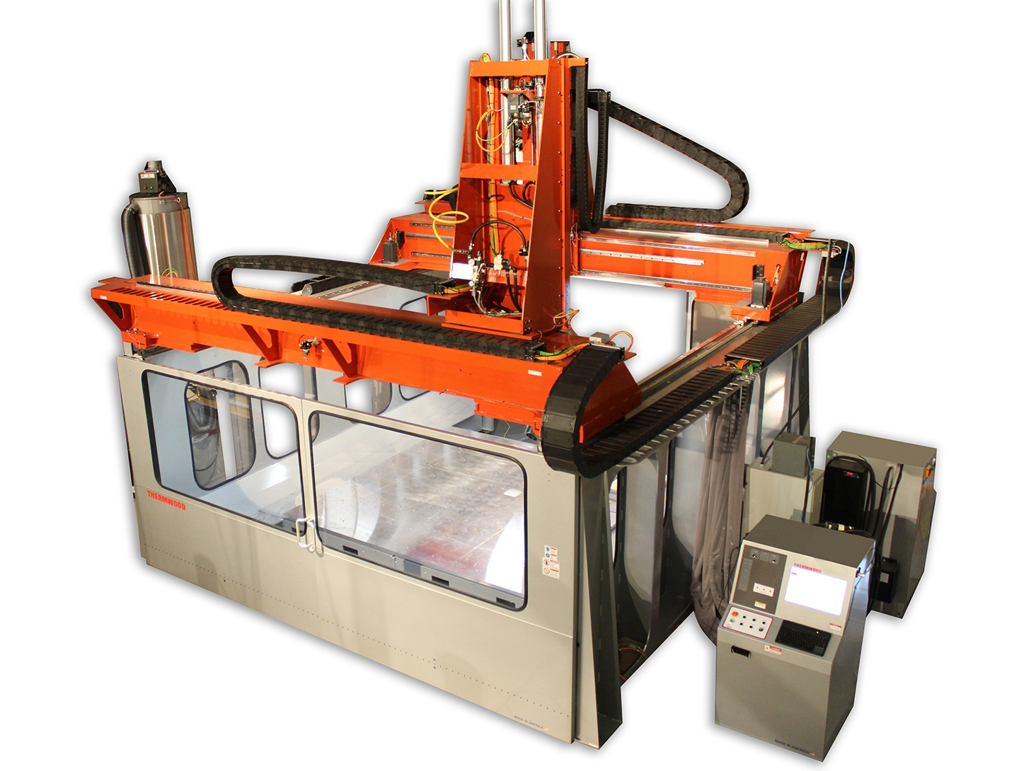 Thermwood LSAM Time-Lapse Video 3D Printing Two Parts Simultaneously