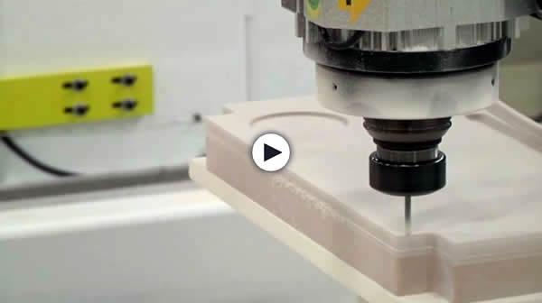Model 90 5'x5' 5 Axis CNC Router Machining Medium Density Foam Tray