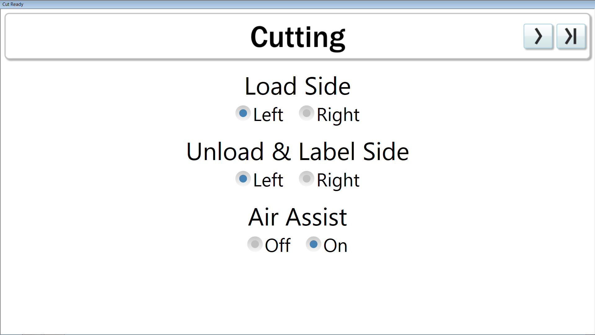 Thermwood Cut Center now adds the ability to turn air assist on or off manually