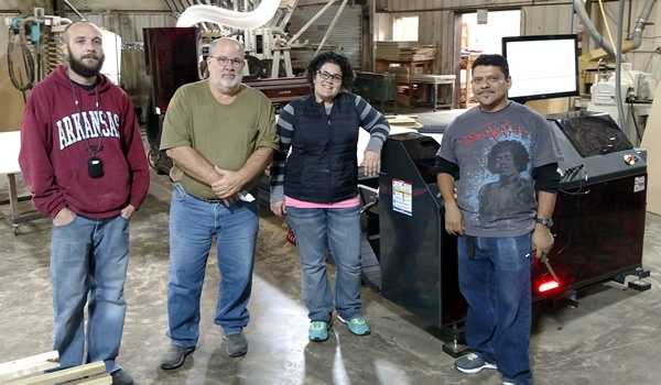 John Allan and the crew at Arkansas Wood Doors with their Thermwood Cut Center