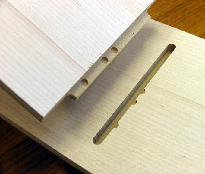 Cabinet parts with assembly marks are easy to put together.