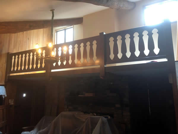 Hickory balusters created using the Custom Cuts tools on the Thermwood Cut Center