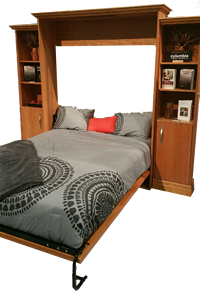 Thermwood Vertical Wall Bed in the down position