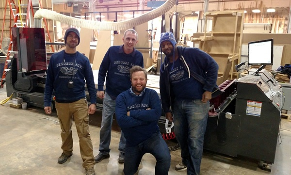 Jody Wilmes of Thermwood and the guys from Bednark Inc. in Brooklyn, NY and their new Cut Center