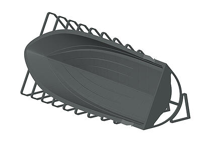 CAD view of the yacht hull mold